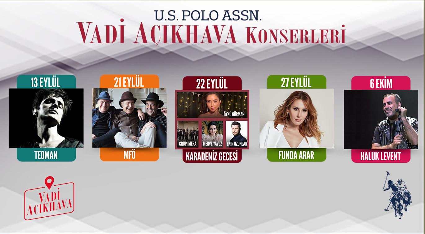 U.S. POLO ASSN. Açıkhava Konserleri - Vadi Açıkhava, İstanbul
