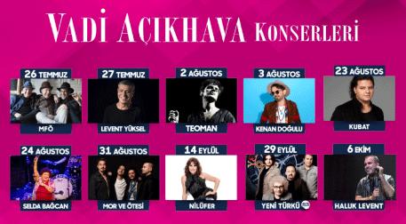 Vadi Açıkhava Konserleri - Vadi Açıkhava, İstanbul